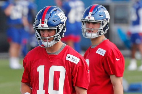 Eli Manning, Daniel Jones debut together: 'Healthy' bond, Week 1 goal