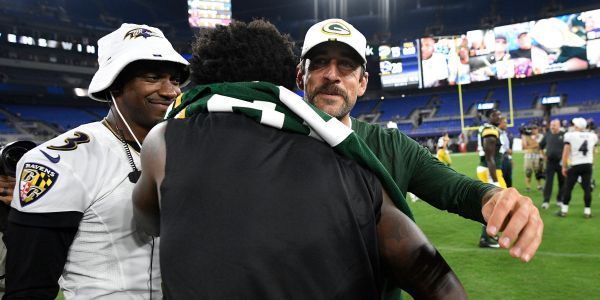 Aaron Rodgers offered Lamar Jackson some simple advice after the Ravens quarterback scored an incredible rushing touchdown