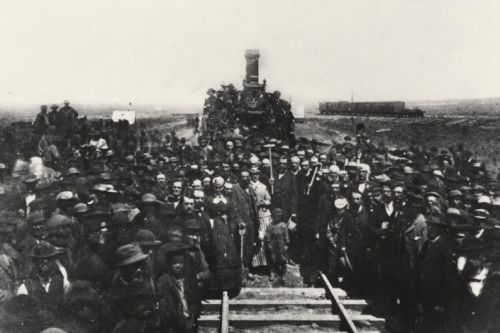 First Transcontinental Railroad and Stanford forever linked