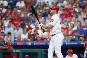 Phillies place Bruce on 10-day IL with strained oblique