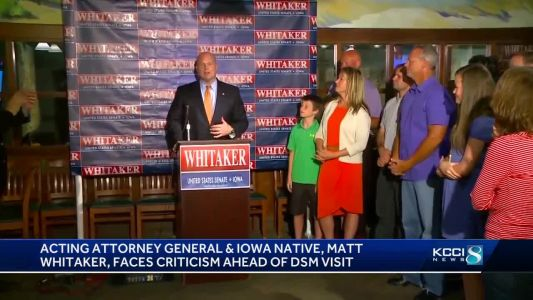 Acting Attorney General Matt Whitaker in Des Moines today