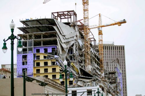 Controlled demolition of Hard Rock Hotel cranes in New Orleans scheduled after partial collapse