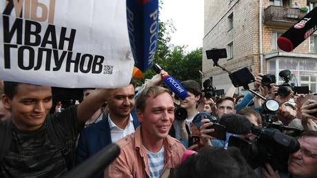 Freed journalist Golunov 'touched' by public support but uncomfortable with sudden popularity