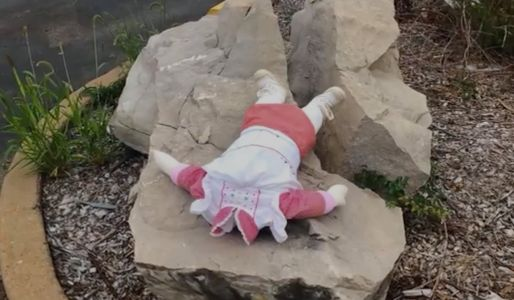 Creepy dolls, some headless, mysteriously appear around town