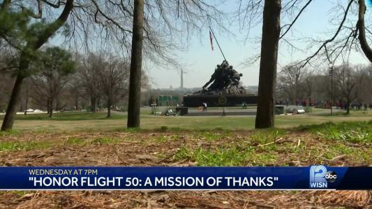 WISN 12 News meets veteran who donated money toward USMC memorial while serving