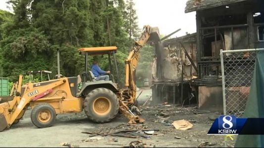 Crews tear down what remains of 'The Hideout' restaurant