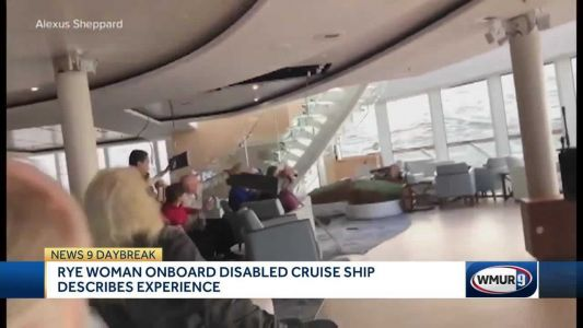 NH woman on stranded cruise ship: 'We were totally encompassed in water'