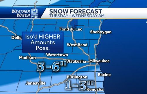 Three to six inches of snow on the way