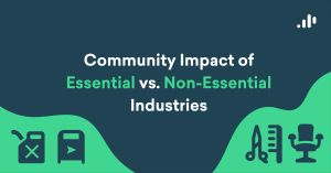 Exploring the Community Impact of the Essential vs. Non-Essential Industry Divide