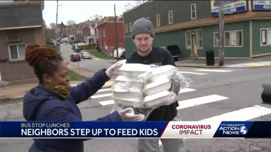'This is amazing': 500 free lunches given out at school bus stops in Pittsburgh