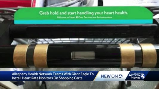 Heart rate monitors coming to Giant Eagle shopping carts