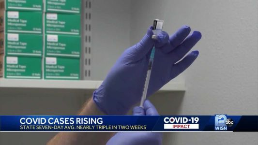 COVID-19 cases rise as vaccinations level off