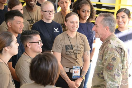 CSAF takes in NASCAR race with Total Force Recruiting