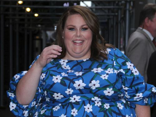 Chrissy Metz wore a bright blue floral dress from Reese Witherspoon's clothing line - and made it look much more expensive than it really is