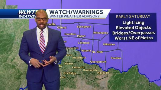 Ice Possible Early Saturday