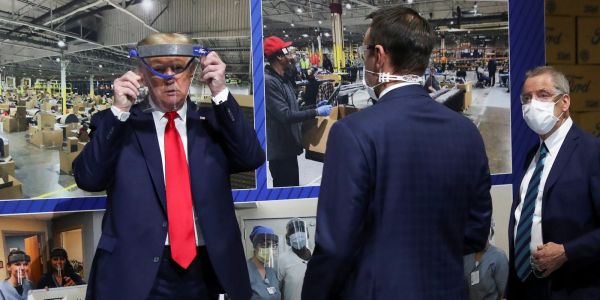 Trump claims he wore a mask at a Ford plant behind the scenes but 'didn't want to give the press the pleasure of seeing it'