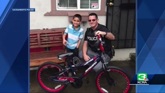 8-year-old boy's stolen bike replaced by Sac police officers