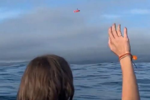 Plane crash survivors film their dramatic rescue