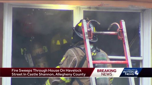 Fire sweeps through Castle Shannon home