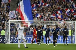 France vs. Germany score: Antoine Griezmann penalty gives World Cup champs comeback win