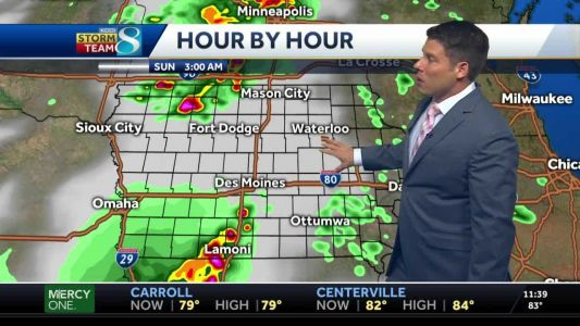 Patches of storms to hit Iowa