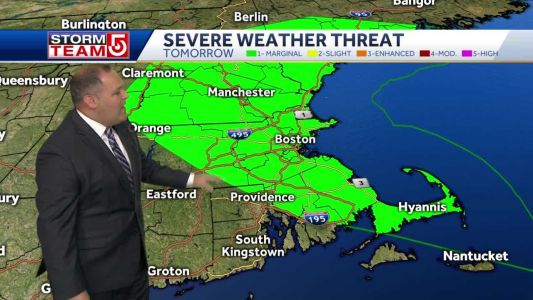 Video: Cold front brings threat of storms Sunday evening