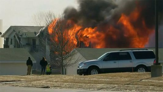 Wisconsin apartment building burned down in controlled fire