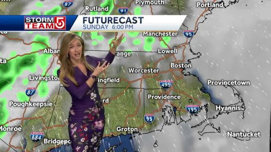 Video: Scattered showers to clear out by Sunday evening