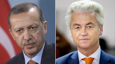 Turkey's Erdogan files criminal complaint after Geert Wilders posts 'Terrorist' cartoon