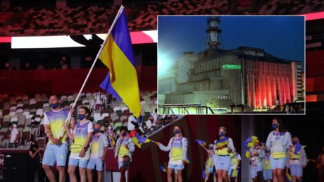 Pizza for Italy & CHERNOBYL for Ukraine?! South Korean TV apologizes for 'inappropriate' graphics during Olympic nations parade