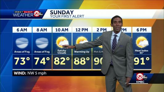 First Alert: Warming up into low 90s Sunday
