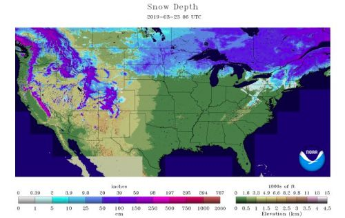 Belski's Blog - Over a quarter of the U.S. still has snow on the ground