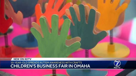 """""""A Touch of Pink"""": 10-year-old spreads autism awareness at Children's Business Fair"""
