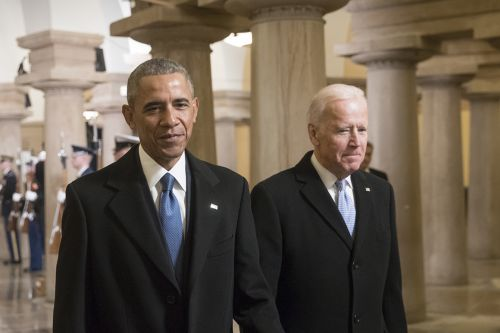 Obama breaks primary silence to praise Biden but stops short of endorsement