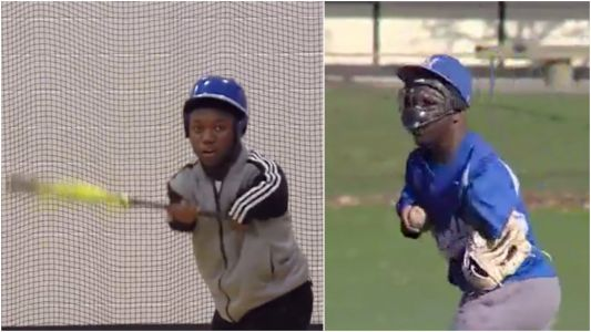 A 16-year-old boy born without arms who calls himself 'a little shrub' is going viral for the way he plays baseball