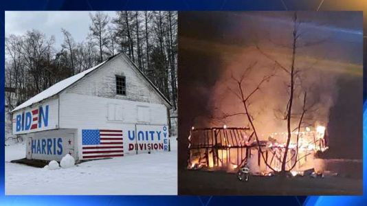 'Biden Barn' burns down, community comes together to raise it up