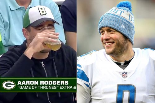 Aaron Rodgers' beer-chugging shame deepened by Matthew Stafford
