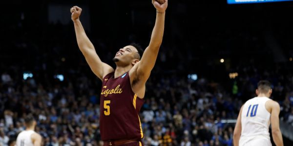 The biggest Cinderella team remaining in March Madness continued their run with an inspired comeback and one huge shot