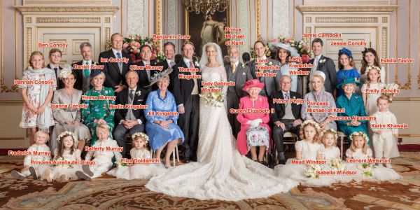 Lady Gabriella Windsor's official wedding photos look like a fairy tale, and include a family portrait with her cousin, Queen Elizabeth II