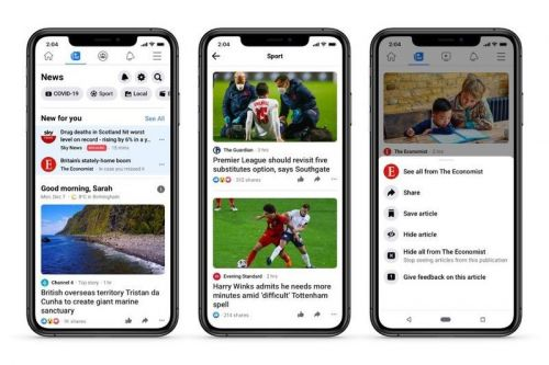There's a new way to see news on Facebook in the UK