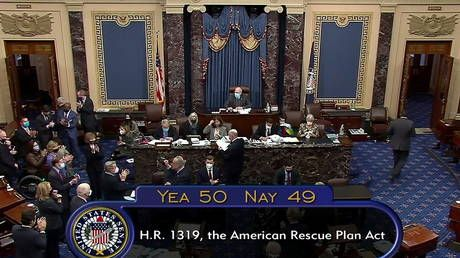 Senate passes $1.9 trillion Covid relief bill after marathon session