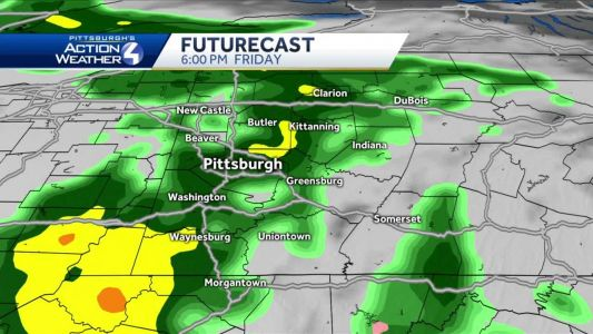 Mostly cloudy tonight, rain showers on Friday