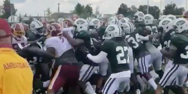 Jets and Redskins brawl at joint practice just days before scheduled preseason game