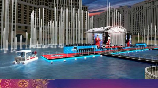 Famous Las Vegas Belaggio fountains, boats will be part of 2020 NFL Draft