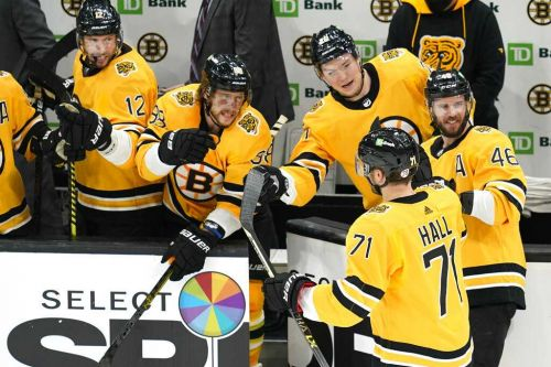Hall scores, Bruins solidify hold on final playoff berth