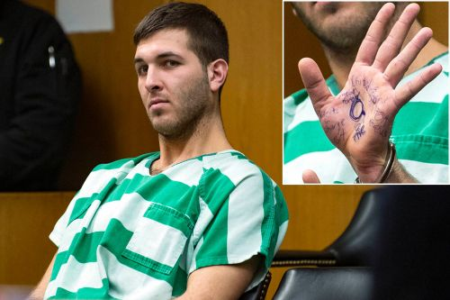 Suspected mob boss killer writes 'United We Stand MAGA Forever' on his hand