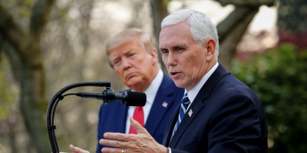 Pence said Trump never 'belittled' the threat of coronavirus, but the president spent weeks downplaying it