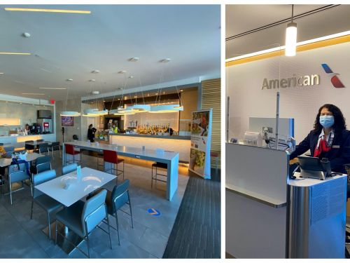 I visited a just-reopened American Airlines lounge and found it impeccably clean but stripped of most of its luxuries - see inside