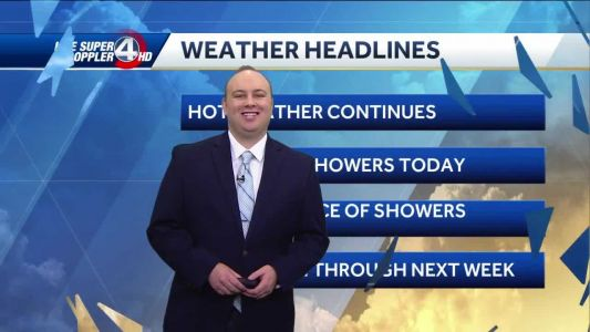 Videocast: Scattered showers today