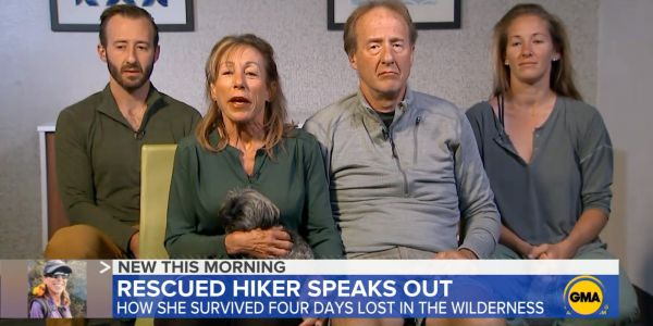 The California hiker who was found after spending 4 days alone in the wilderness says she got lost after fleeing a man with a knife